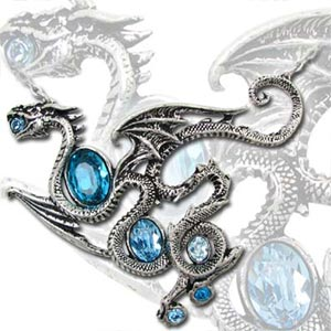 Aqua Dragon Necklace